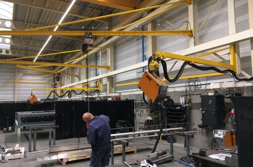 Geelen Counterflow welding boom
